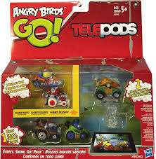 Angry Birds Go Telepods Street, Snow, Go! Pack Exclusive Karts by ...