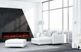 landscape built in electric fireplace