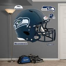 Shop Fathead Seattle Seahawks Helmet Wall Decals Overstock 9318443