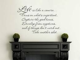 Inspirational Life Is Like A Camera Wall Art Quote Etsy