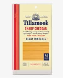 tillamook sharp cheddar cheese slices
