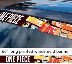 Buy 60 One Piece V9 Monkey D Luffy Brook Pirates King Anime Manga Sun Strip Printed Windshield Car Vinyl Sticker Decal