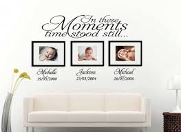 Create A Great Reminder With A Time Stood Still Date Of Birth Wall Decal