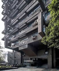 The Institute of Town Planners, Delhi, India, Built in the 70s Architect Achyut  Kanvinde, Structural engineer Mahendr…   Structural engineering, Building,  Architect