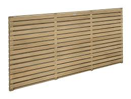 3ft High X 6ft Wide Forest Double Sided Slatted Fence Panel Pressure Treated Elbec Garden Buildings