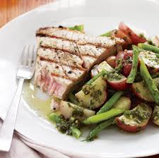 Grilled Tuna Steaks with Potato and ...