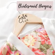 Personalized Wooden Bridal Bridesmaid Hangers The White Invite