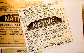 Surprise Colorado The Guy Who Sold All Those Native Stickers Is A Transplant Denverite The Denver Site