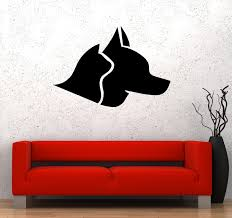 Wall Decal Animals Dog Cat Pets Head Vinyl Sticker Ed1738 Wallstickers4you