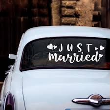 Just Married Decal For Car Window Waterproof Wedding Decor Stickers Rustic Simple Wedding Room Decoration Wall Decals Diy Z643 Stars Wall Stickers Sticker Art For Walls From Hilery 14 97 Dhgate Com