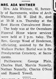 Ada Scott Whitmer obituary - Newspapers.com