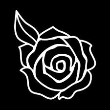Amazon Com Rose Flower Silhouette Vinyl Sticker Car Decal 6 Black Automotive
