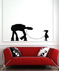Girl Walking Atat Wall Vinyl Decal Black By Geekals On Etsy 19 99 Vinyl Wall Decals Black Wall Decor Vinyl Decals