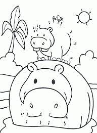 Kleurplaat Van Een Nijlpaard Dierentuindieren Kleurplaten En De