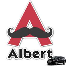 Mustache Print Graphic Car Decal Personalized Youcustomizeit