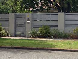 Grey Fence House Fence Design Fence Design Backyard Fences