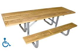 8' ADA Wood Picnic Table   Commercial Site Furnishings