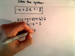 system of 3 equations 3 unknowns using
