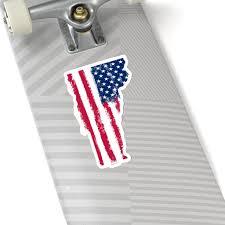 American Flag Vermont Sticker State Patriot Laptop Decal Vinyl Cute W Starcove Fashion