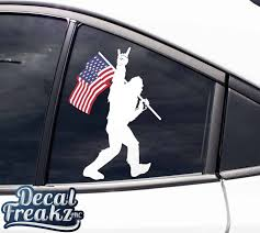 Sasquatch Rock On Laminated Decal Outdoor Quality Decal Freakz