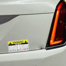2 Pcs Car Safety Warning Rule Pastor Pvc Car Security Decal Warning Sign Car Reflective Tape Decoration Stickers Car Sticker Car Stickers Aliexpress