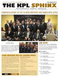 The KPL Sphinx - December 2013 by Kerry G. Johnson - issuu