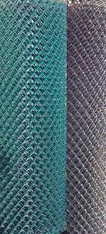 Pool Mesh Chain Link Fence Galvanized Steel Wire With Vinyl Coating Black Green 1 1 4 Price Is For 50 Ft Roll Fence Material