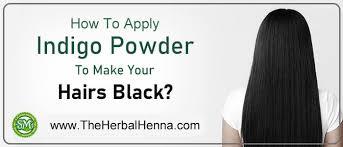 how to apply indigo on hairs use