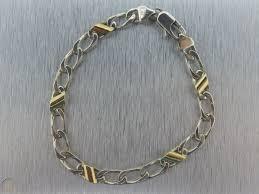 sterling silver 925 curb link bracelet