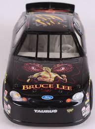 Jeff Burton Signed Bruce Lee 1 24 Die Cast Car Jsa Coa Pristine Auction