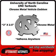 North Carolina Tarheels Heavy Metal Auto Emblem Unc Chrome Car Decal Cdg For Sale Online Ebay