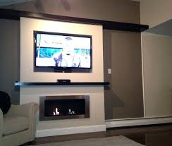 under tv fireplace recessed under