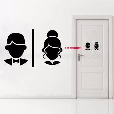 Removable Home Decor Toilet Bathroom Restroom Door Decal Ladies And Gent Wc Sign Vinyl Sticker Toilet Ay1179 Wall Stickers Aliexpress