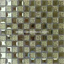 gold color mirror glass mosaic for club