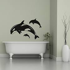Orca Killer Whales Wall Decals Vinyl Stickers Ocean Themed Decor