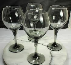 smoky gray balloon wine glasses