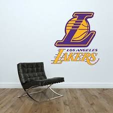 Los Angeles La Lakers Logo Wall Decal Nba Basketball Decor Mural Vinyl Sticker Ebay