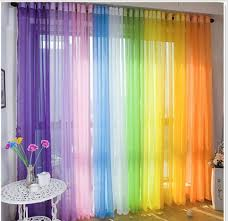 Voile Sheer Curtain Customise Bedroom Window Home Diy Children Kids Room Drape Home Curtains Curtains For Closet Doors Rainbow Curtains
