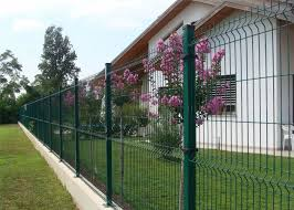 1530mm Nylofor 3d Wire Mesh Fence Panels Ral 6005 Pvc Coated And Double Leaies Gates Made In China