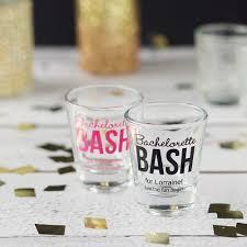 personalized bridal shot glasses