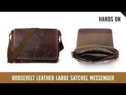 large buffalo leather messenger bag in