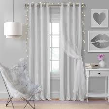 Elrene Home Fashions Aurora Kids Room Darkening Layered Sheer Window Curtain 24299pry The Home Depot