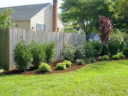 landscaping ideas for in front of fence