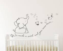Adorable We Made A Wish Baby Elephant Wall Decal Sticker For Nursery S Elephant Baby Rooms Elephant Wall Decals Baby Elephant Nursery