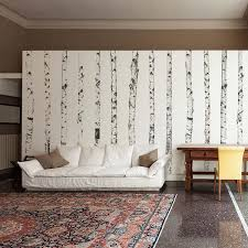 Realistic Birch Trees Set Wall Decal Print4one