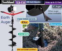 Reviews Best Post Hole Digger Gas Powered Earth Augers
