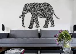 Amazon Com Uber Decals Vinyl Wall Decal Sticker Tribal Elephant 176 18x27 Inches Home Kitchen