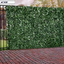 Yard Leaf And Vine Decoration For Outdoor Decor Garden Green Best Choice Products 94x39in Artificial Faux Ivy Hedge Privacy Fence Wall Screen Decorative Fences