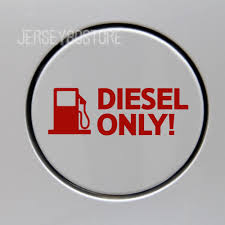 Diesel Only Reflective Fuel Door Cover Cap Gas Tank Red Decal Sticker 12cm Gas Tanks Reflective Decals Diesel