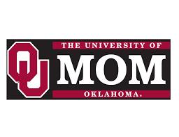 University Of Oklahoma Mom W Ou Vinyl Decal